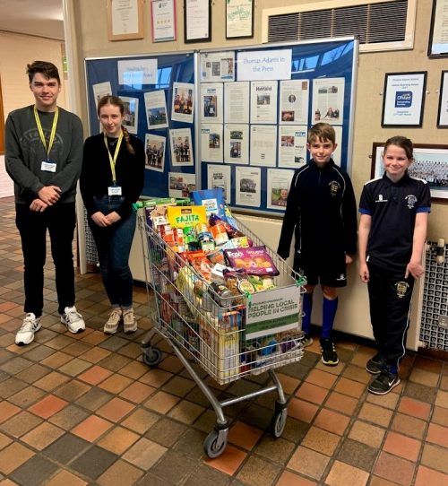 Whitchurch Food Bank trolley donation