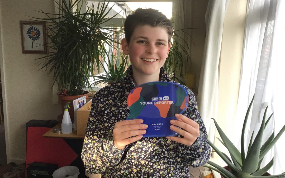 Alfie wins BBC Young Reporter Competition